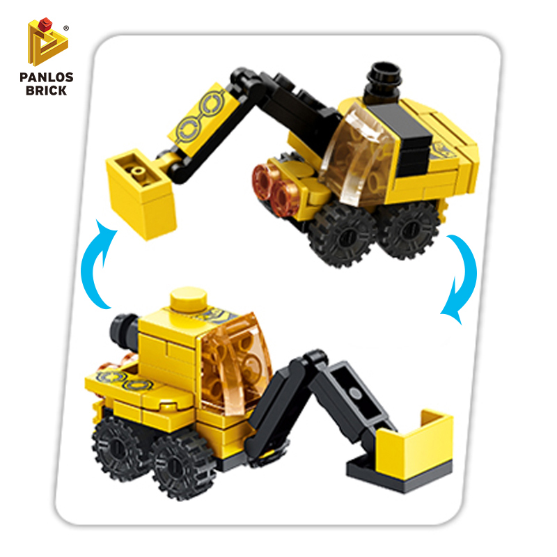 City Building Bricks Engineering Crane Building Blocks Truck Robot Car Stacking Toy Helicopter Warplane Police Boat Gift For Kid