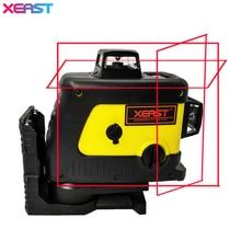 Xeast 12 линия лазерный уровень 360 вертикальная и горизонтальная Самовыравнивающийся Крест линия 3D лазерный уровень красный луч, Может регулируемая точность