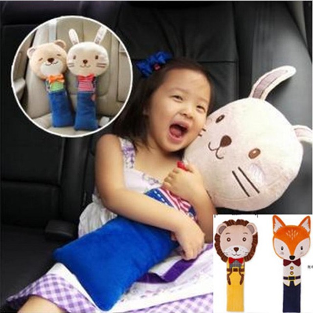 Children Safety Seat Belt Shoulder Pads Cartoon Car Cover For Kids PP Cotton Child