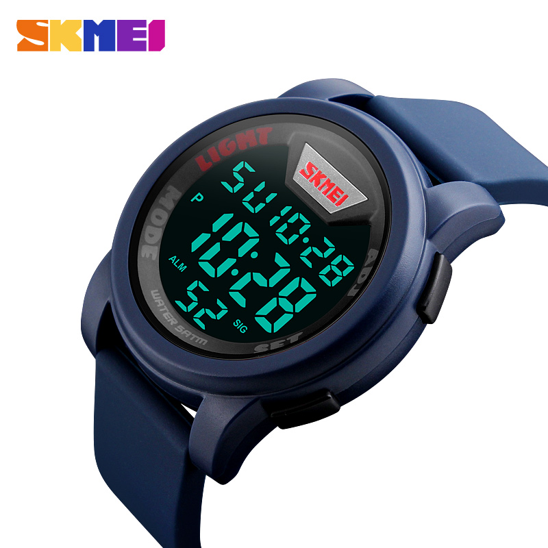 SKMEI Outdoor Chronograph Sports Watches Men Military Silicone Strap Watch Waterproof Digital Wristwatch Male Relojes Musculino longbo men military watches complex big dial leather strap wristwatch male outdoor sports quartz watch life waterproof uhren men