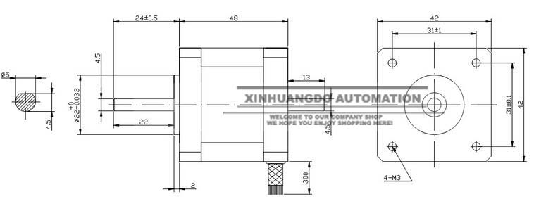 US $6.28 |42 motor 17hs8401 2 phase 4 wire Nema 17 Stepper Motor 42 on