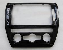 Placa do painel de ar condicionado automático laca piano + center console painel cd para vw jetta mk6 golf 6