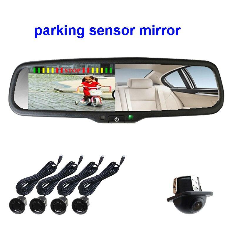 KOENBANG Parking Sensor Car Monitor Rear View Mirror Monitor +Rear View Reverse Car Camera 4.3inch ScreenKOENBANG Parking Sensor Car Monitor Rear View Mirror Monitor +Rear View Reverse Car Camera 4.3inch Screen