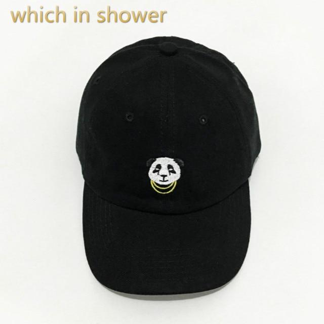 Hangi duş pamuk kadınlar panda baba şapka ayarlanabilir karikatür beyzbol şapkası hip hop nakış snapback şapka yaz güneş kemik