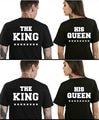 S-XXXL король королева рубашка женщина майка пара футболка femme женщины camiseta mujer verano poleras де mujer camisetas mujer