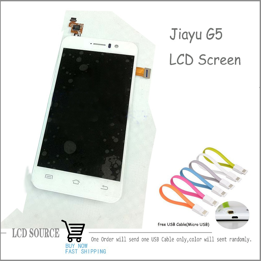 High Quality For JIAYU G5 LCD Display Panel Touch Screen Digitizer Full Assembly For JY G5 Replacement Free Tracking With Gift a lcd display for jiayu g2 jy g2 lcd