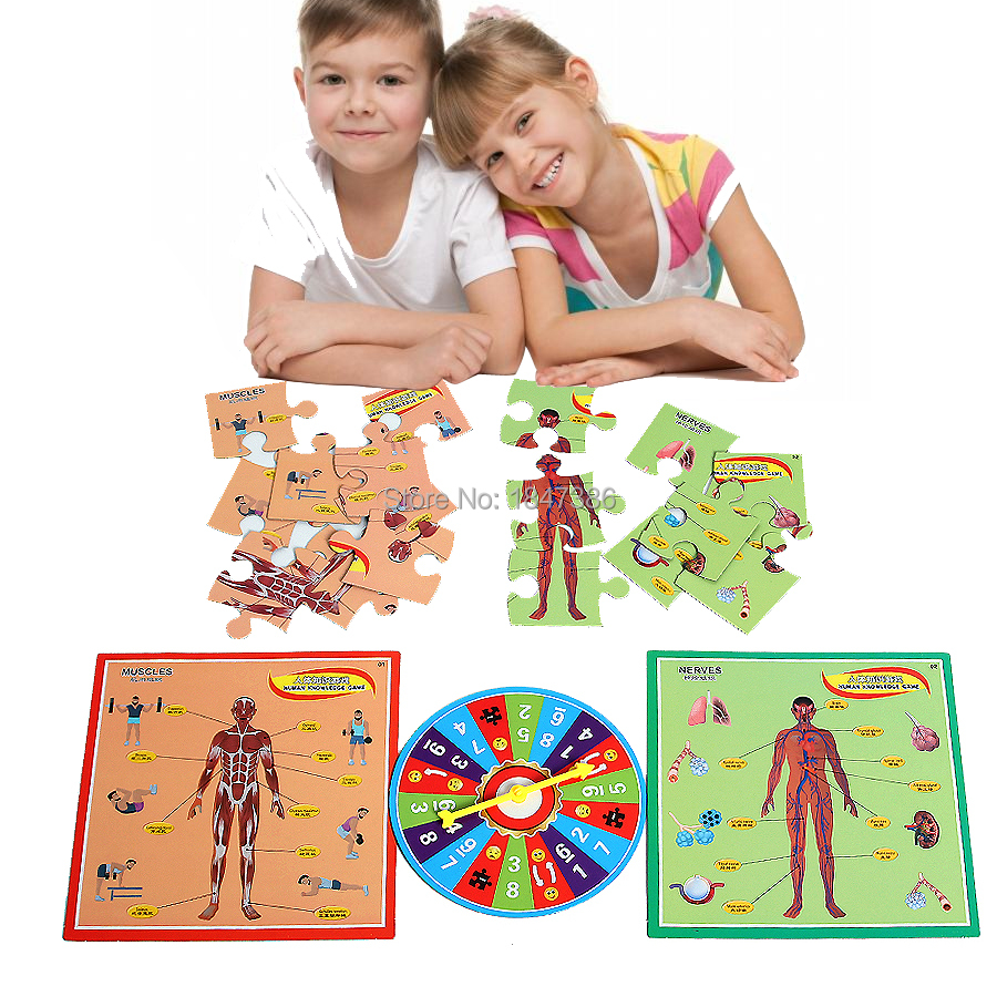 Early Education Enlightenment Human Knowledge Game,Human Body Structure Paper Jigsaw Educational Puzzle Toys For Children