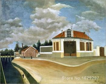 Die Stuhlfabrik Chesnoy and Cie. Henri Rousseau painting for bedroom decoration High quality