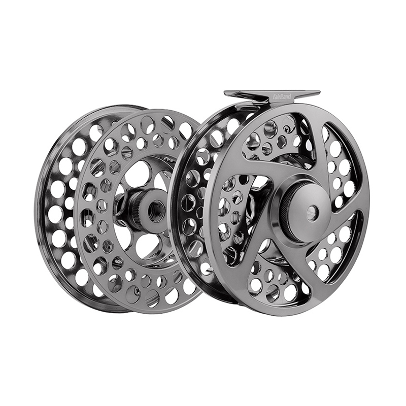 9/11 110mm fly reel + spare spool 4.33 2BB+1RB PRECISION MACHINED BAR-STOCK ALUMINUM fly fishing reel with INCOMING CLICK