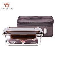 Glass Lunch Box with Bag Lunch Boxes for Adults , Men's Lunch Boxes for Work , Life 700ml or 1L