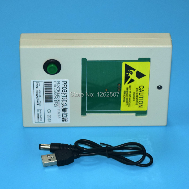 printhead resetter PF-03 For Canon IPF500 IPF510 IPF600 IPF605 IPF610 IPF700 IPF710 iPF815 iPF820 iPF825 Printer head reset maintenance tank waste ink box chip resetter for canon ipf755 ipf500 ipf510 ipf600 ipf610 ipf700 ipf710 printer
