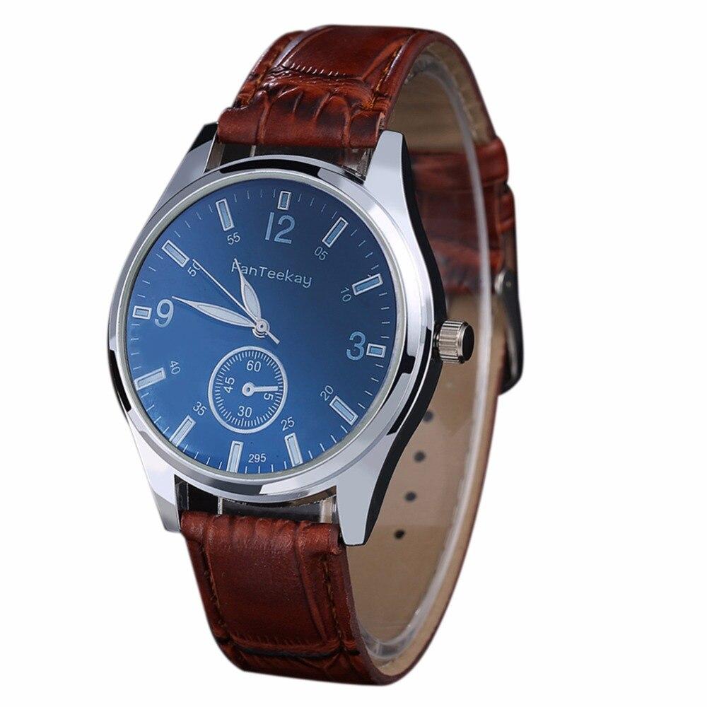New Fashion Casual Men watch Luxury Brand Watches Quartz Clock PU Leather belts Watch Cheap Sports