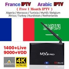 IPTV France Arabic Full HD French IPTV Free 1Month IPTV Code MX9 Pro Android 8.1 TV Box Turkey IP TV Belgium IP TV Morocco IP TV