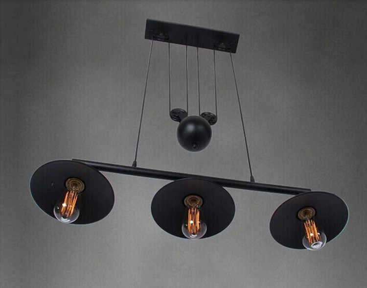 Винтажный подвесной светильник, светильники в стиле лофт, подвесной светильник в ретро-стиле, черный металлический промышленный светильник, спальня, столовая, бар