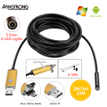 Gold Endoscope 5.5mm 2IN1 2M 5M 10M USB Android Camera Endoscope HD Inspection OTG IP67 USB Endoscopio Camera Phone Borescope