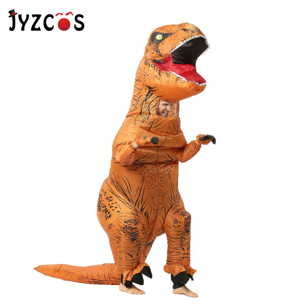 Adult T-Rex inflatable Costume Dinosaur costume Halloween Costume for Women Men Animal Cosplay Mascot Dinosaur Party Fantasia