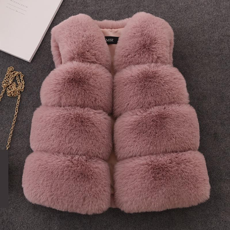 Winter Warm Waistcoat Kids Girls Artificial Fur Vest Coats Outerwear Clothing For Young Child Children Sleeveless Jacket Vw018 kids girls artificial fur vest coats winter warm waistcoat sleeveless jacket children s artificial fur vest girl jacket children