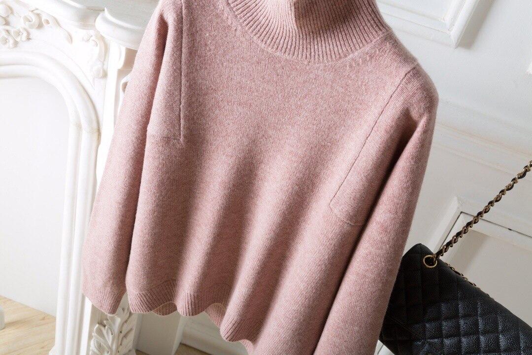 Haut pink Vêtements Couleurs 2019 En Nouvelle 3 Col khaki Laine Irrégulière Blue Pull 1 D'hiver Tailles Femmes fwTUt7qT