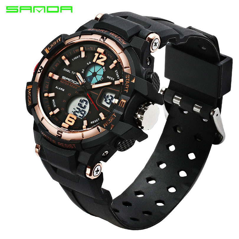 SANDA Brand 2018 Sport Watch Women Watches Ladies Electronic LED Digital Wristwatch Female Clock Montre Femme Relogio Feminino