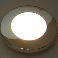 led warm 1 Pcs LED Round Roof Ceiling Interior Dome Light Lamp For Boat Yacht Car RV 3000k Warm Light Stainless Steel (3)