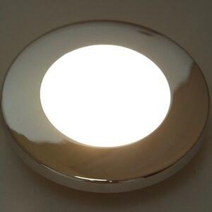 Image 3 - 1 adet LED yuvarlak çatı tavan iç kubbe ışık lambası tekne yat araba RV 3000k sıcak hafif paslanmaz çelik