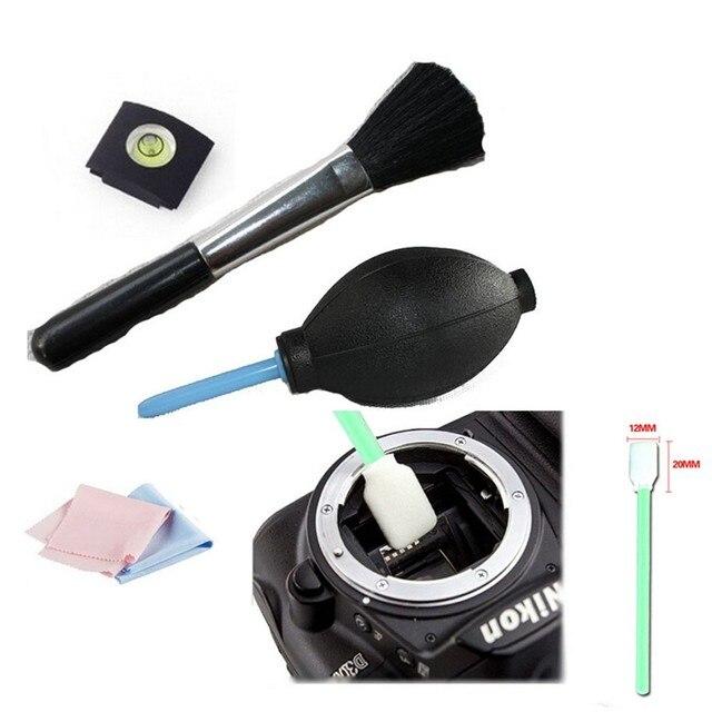 5 trong 1 hot shoe thần bàn chải làm sạch kit làm sạch pen máy ảnh Pen/ống kính vải Cleaning Kit