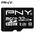 PNY High Speed Memory Card Class 10 SDXC UHS-I U3 32GB 64GB CL10 SDHC 16GB U1 Micro SD TF Trans Flash Microsd Card Max 90MB/s