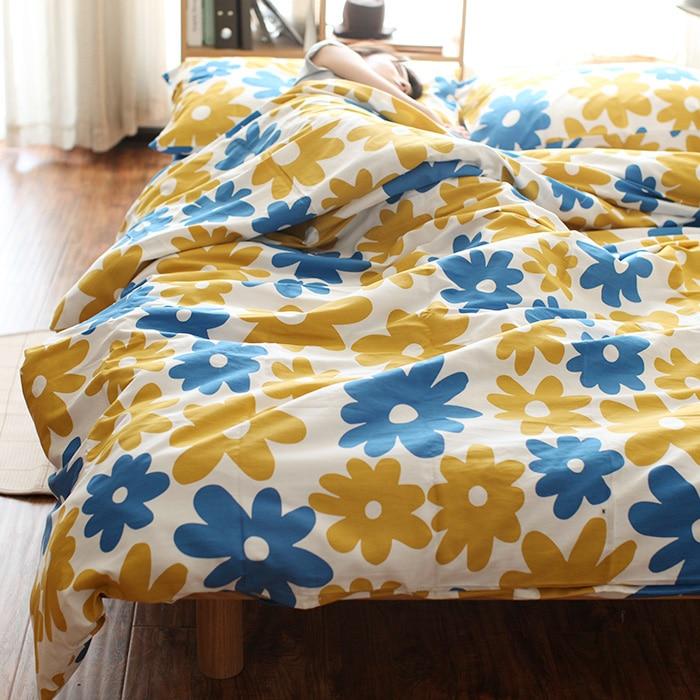 Europe Autumn Flower Print Twill100%Cotton comfortable bedding set duvet cover set bed sheet duvet cover quilt cover pillow case