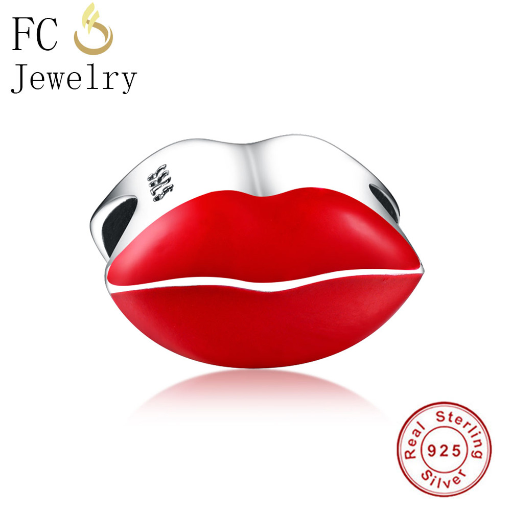 ALI shop ...  ... 32878728912 ... 5 ... FC Jewelry Fit Original Pandora Charms Bracelet 925 Sterling Silver Dress Lip Lipstick High Heels Bag Perfume Cup Berloque DIY  ...