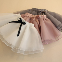Summer Baby Girls Mini Skirts Fluffy Kids Ball Gown Bow Ballet Pettiskirts Tutu Skirt Toddler Girl Dance Party Tulle Skirts 2-6Y недорого