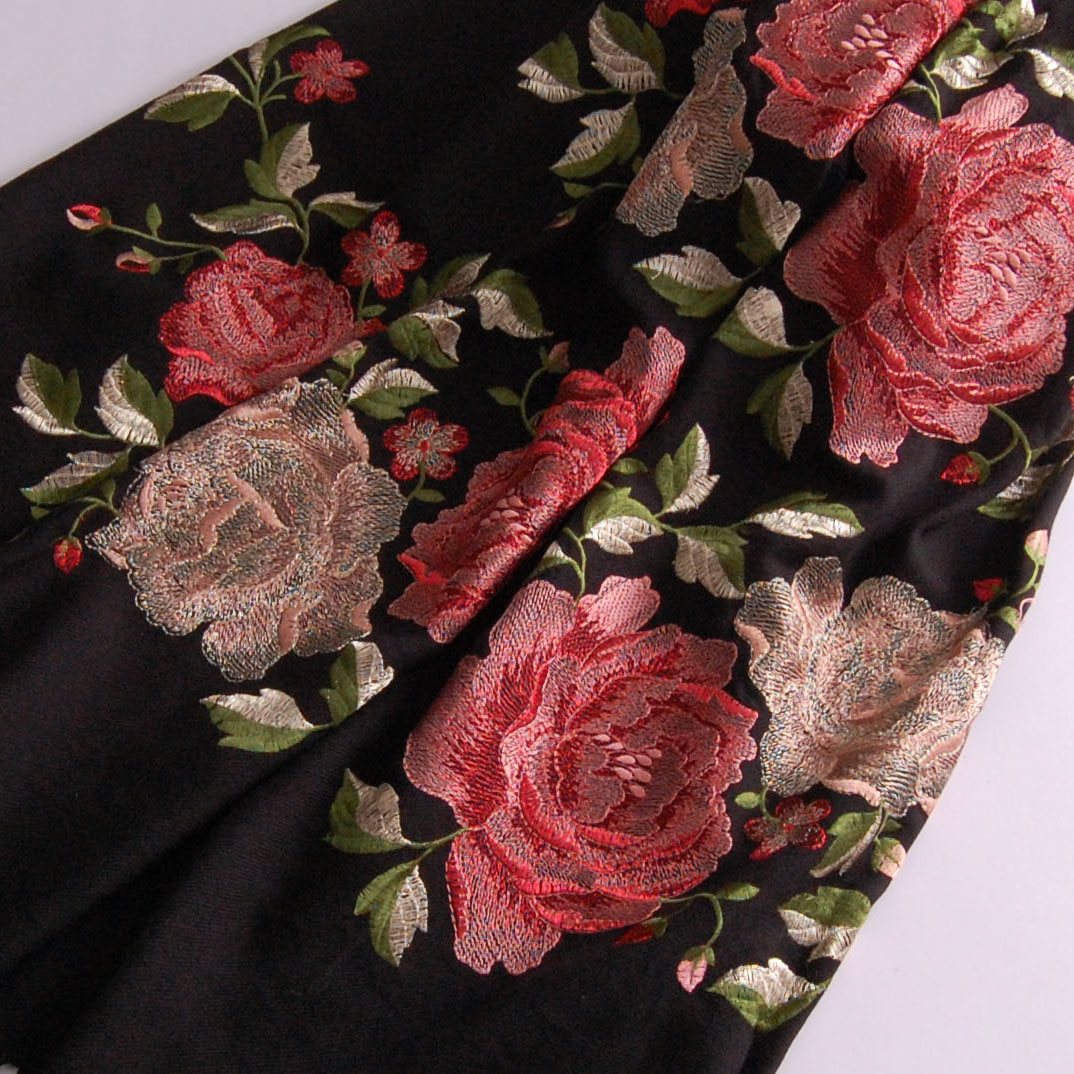 5 color Free Shipping high quality exquisite handmade embroidery royal peony flower national trend wool cashmere