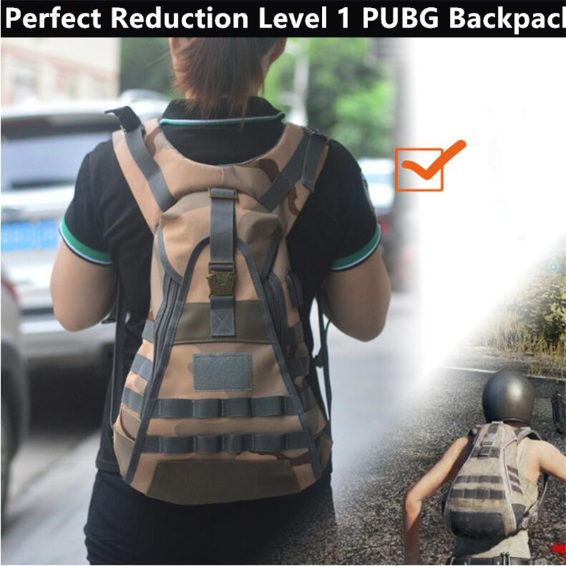 Game PUBG Perfect Reduction Level 1 PUBG Backpack Cosplay Costumes Props 1:1 Chicken Dinner Sand Camouflage Colour