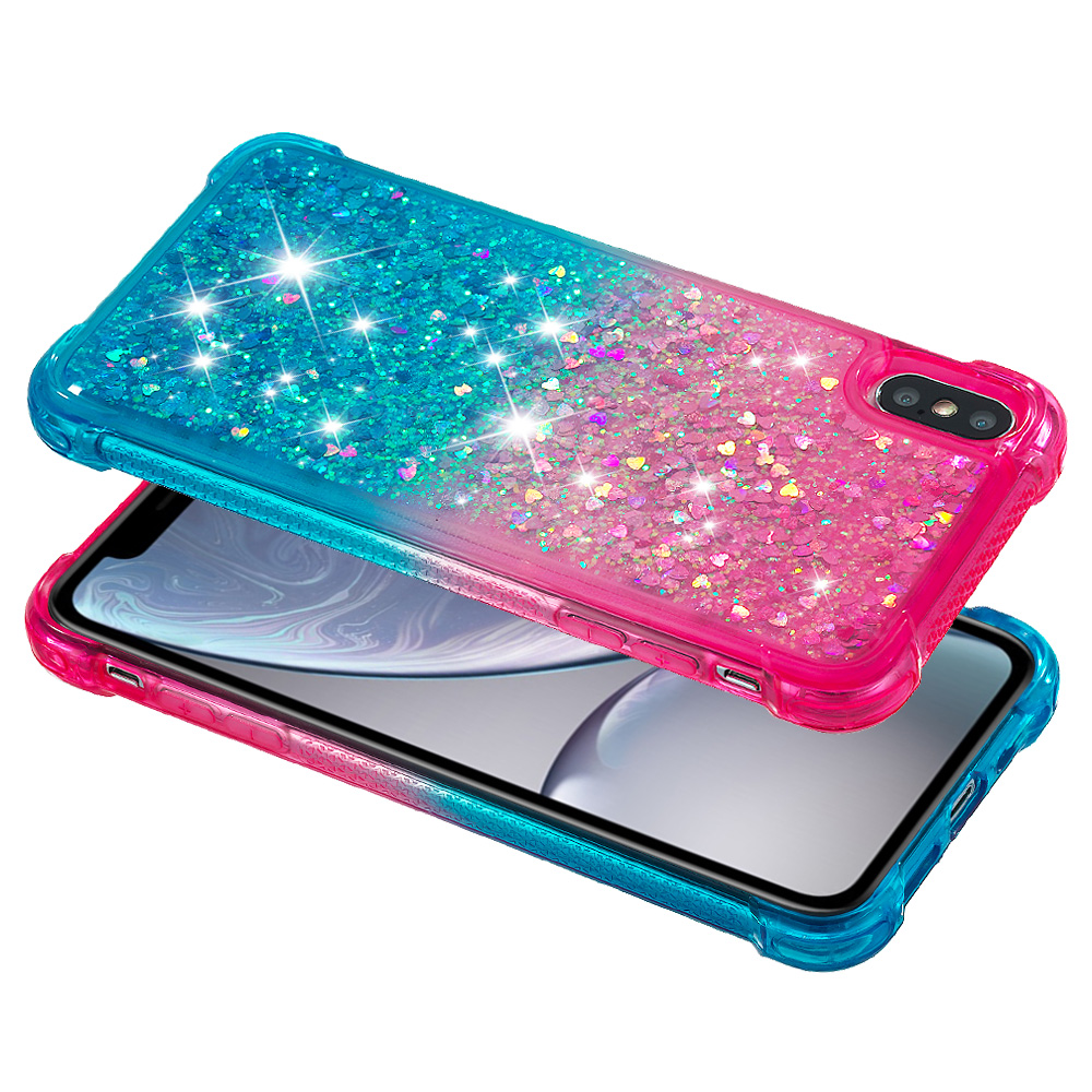 Gradient Quicksand Prevention of falls Cases For Apple iphone XS MAX Fashion Girl Phone Cover in Fitted Cases from Cellphones Telecommunications