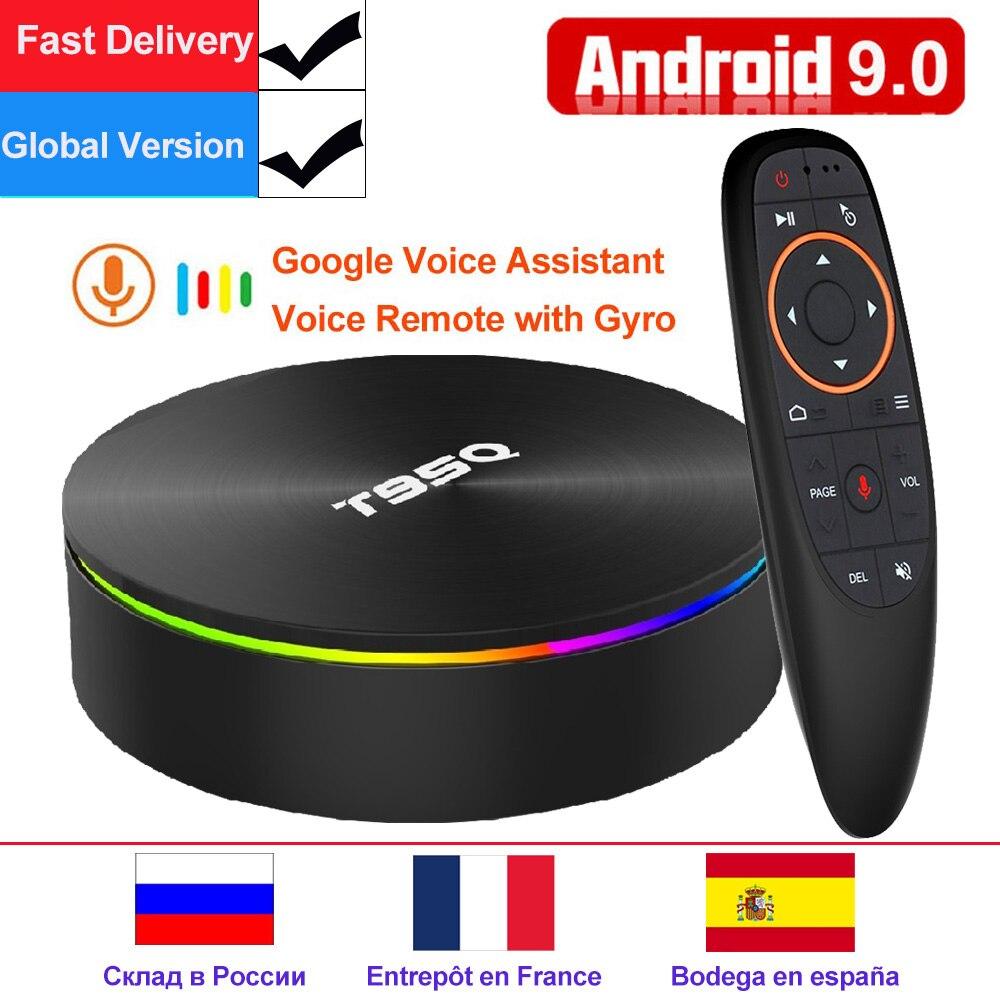 T95Q 4 GB 64 GB Android 9.0 TV BOX 4 K lecteur multimédia DDR3 Amlogic S905X2 Quad Core 2.4G & 5 GHz double Wifi BT4.1 100 M H.265 Smart Box