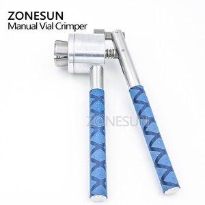Image 5 - Zonesun 13 15 20mm manual de aço inoxidável frasco perfume spray crimper mão tampando crimper selo tampando ferramenta