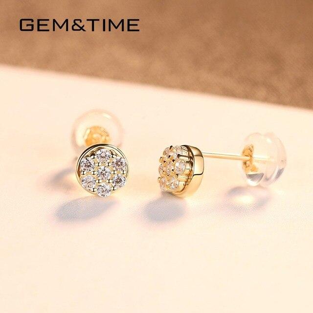 14K Gold Stud Earrings 4