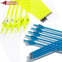 12pcs Archery Mixed Carbon Arrows Shaft 30 inch ID6.2mm Spine 500 90 grain Point Compound Recurve Bow Hunting
