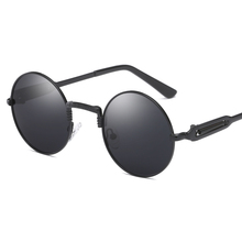 Retro Steampunk Sunglasses Designer Fashion Round Gold Frame Steam Punk Polarized Sunglasses Circle Sun Glasses for Women Men все цены