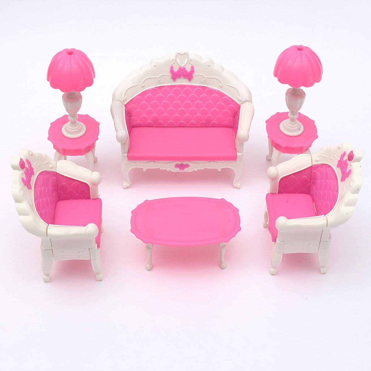 cheap dollhouse furniture. miniatura pink dollhouse furniture living room parlour sofa set for doll accessories toys children cheap