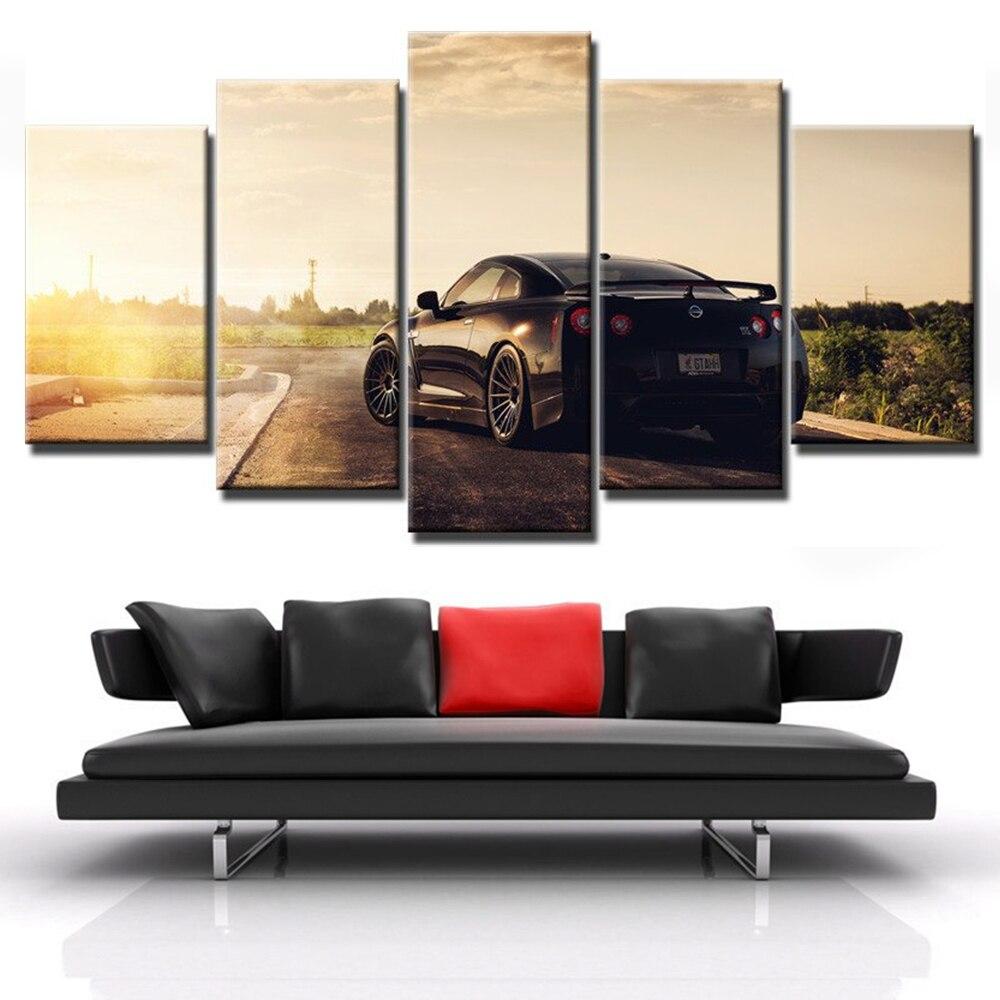 Lienzo HD impreso pared arte fotos dormitorio Marcos 5 unidades ...