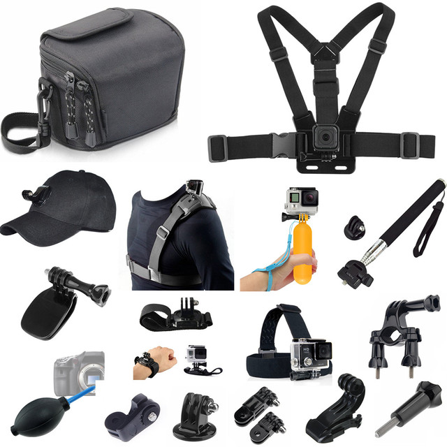 US $38 69 |12 in 1 Accessories kit Bundle for JVC GOPRO SJCAM EKEN Vivitar  Dazzne Wimius DBPOWER SEENTRON VicTsing APEMAN Action Camera-in Sports