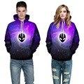 Adogirl Men Purple Galaxy Printed Hoodies Alien Pullovers Tops Women Autumn Hooded Hoody Plus Size 2016 Winter Loose Sweatshirts