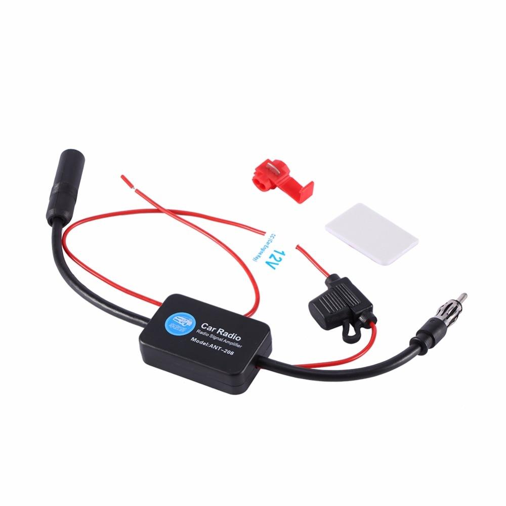 1 Set 12v Car Fm Radio Aerial Antenna Signal Reception Amp