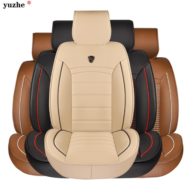Chair Covers Leather Folding Wood Full Set Pu Car Seat Cover Universal Red Auto Interior Protector