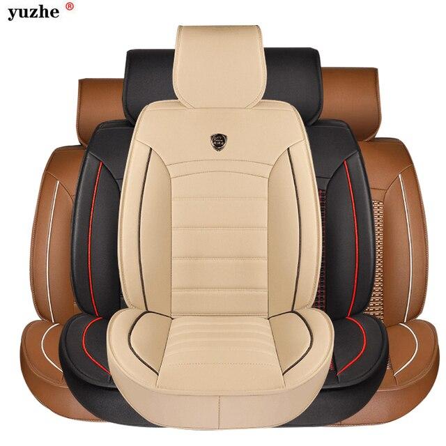 Volledige Set PU Lederen Auto Bekleding Universele Rood Auto ...
