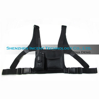VOIONAIR 2 pcs Nylon Adjustable Hands Free Two Way Radio Pouch Chest Pack Shoulder Straps