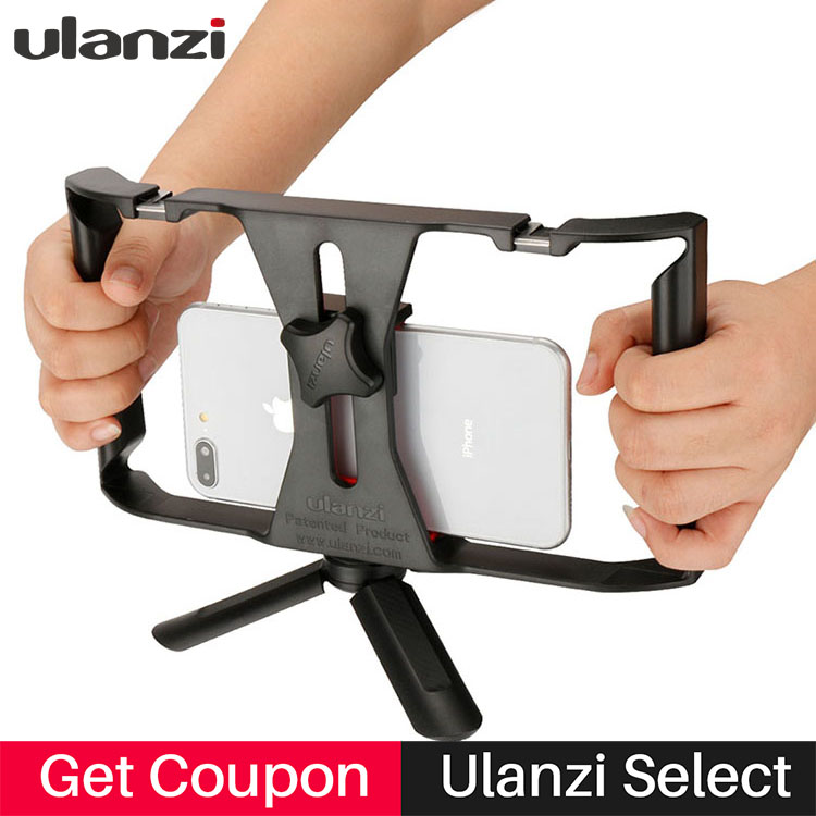 Ulanzi Handheld Smartphone Video Rig Case for iPhone X Samsung,Phone Rig Stabilizer for Live stream Youtube Filmmaking Vlogger