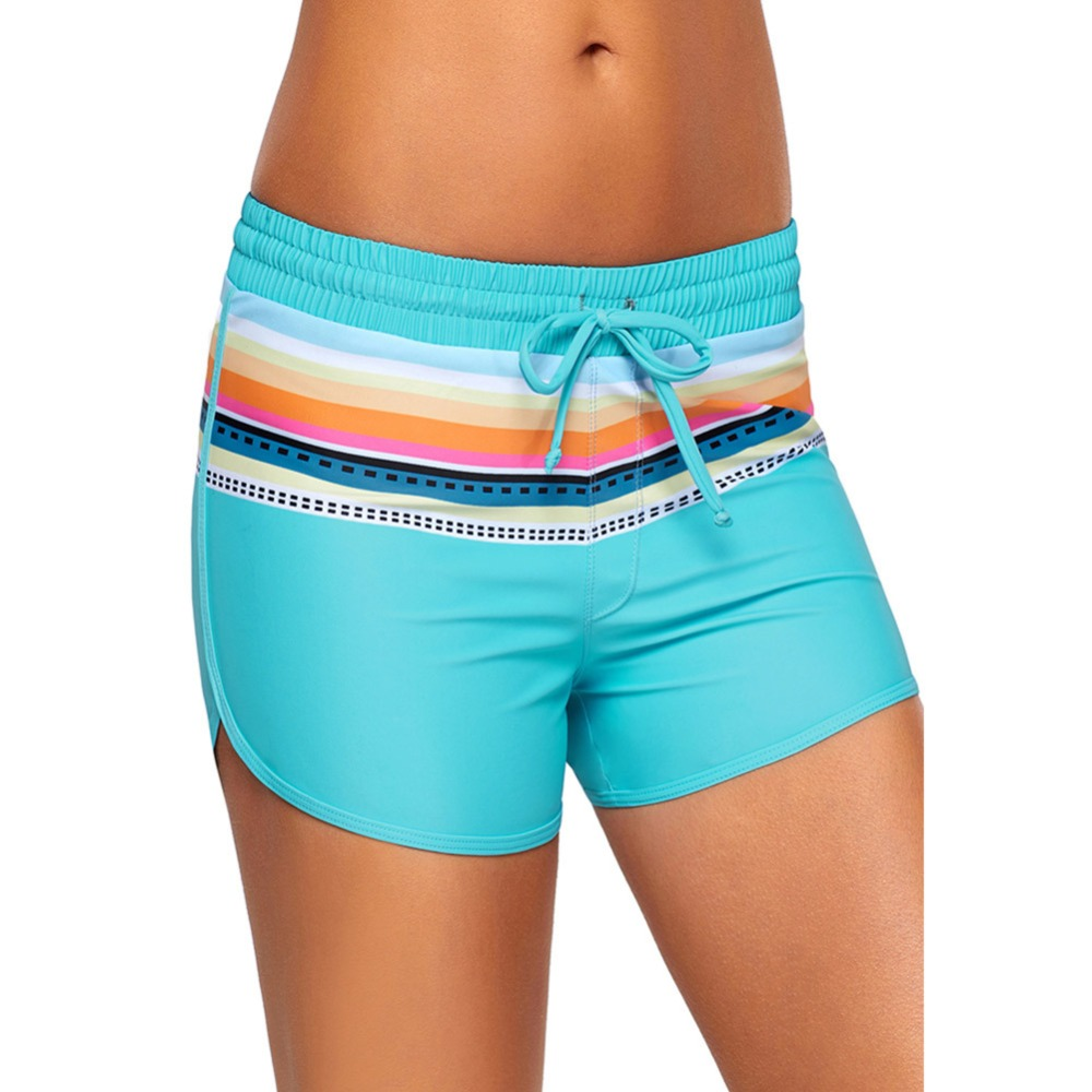 Women's Wide Waistband Swimsuit Bottom Shorts Swimming Pant Boxer Boardshorts Two piece Separate Tankini Stretch Plus Size Trunk