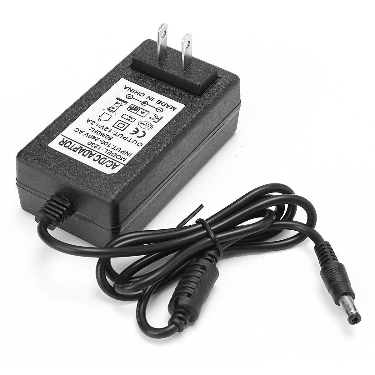 Power Supply Adapter Transformer 12V 3A 36W Power Adapter LED Power US Plug 2.1 * 5.5mm For CCTV Camera 2pcs 12v 1a dc switch power supply adapter us plug 1000ma 12v 1a for cctv camera