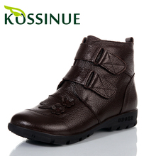 ขนาดบวก(35-43)รองเท้าฤดูหนาวใหม่ผู้หญิงหนังแท้ข้อเท้าบู๊ทบู๊ทส์หิมะอบอุ่นกาแฟ,สีดำรองเท้าสำหรับผู้หญิงในช่วงฤดูหนาวรองเท้า